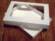 "5"" x 7"" White Greeting Card Boxes With Aperture Lid"